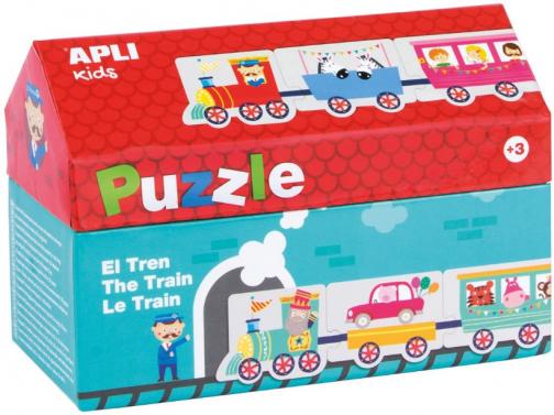 Apli kids-Caja puzzle casita tren